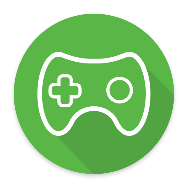 an icon of a gaming controller