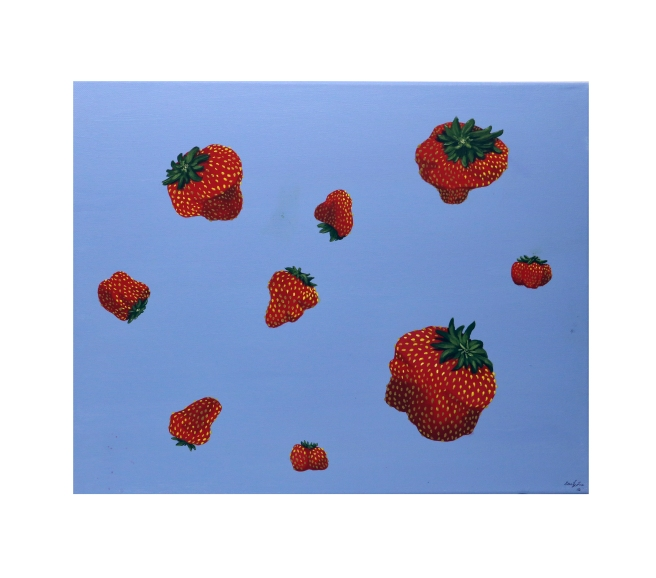Painting of strawberries